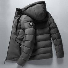 2020 novos casacos de inverno dos homens outono inverno quente outwear fino casacos de algodão vestido com zíper jaquetas masculino com capuz colarinho 4xl casaco