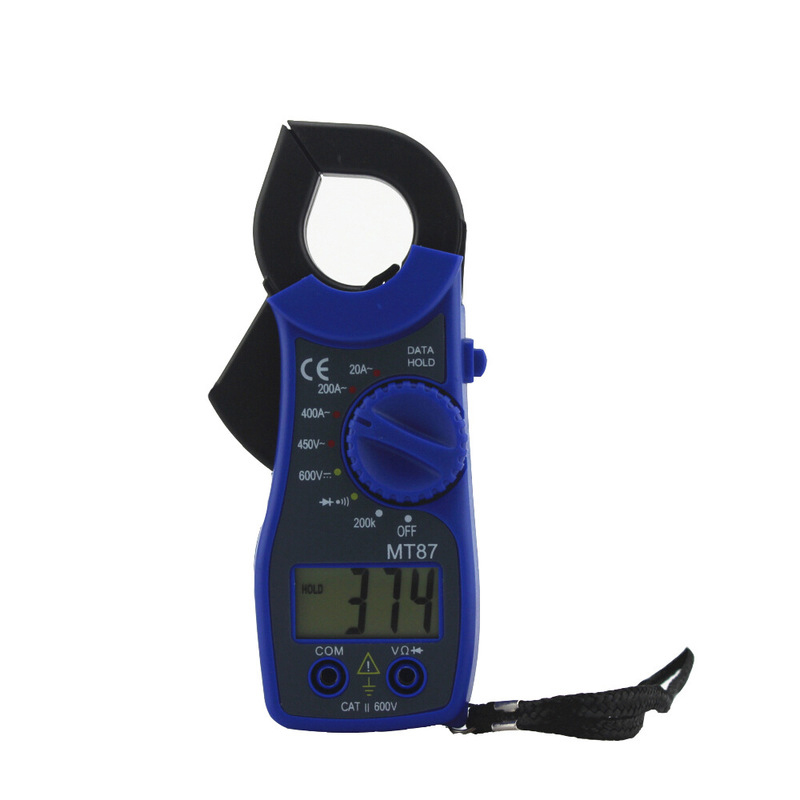 1 шт. MT87 клещи ЖК-цифровой мультиметр Измерение AC/DC тестер напряжения сопротивление тока Высокое качество клещи - Цвет: MT87-blue