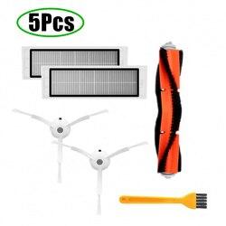 5 teile/los Geeignet für Xiao mi mi Roboter Staubsauger teile seite pinsel X2PC, HEPA-filter X2PC, wichtigsten pinsel X1PC