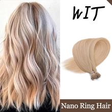 WIT 50g 50 sztuk 1 g sztuka 16 #8222 20 #8221 24 #8222 naturalne maszyny Remy ludzki Pre Bonded Nano pierścionek do przedłużania włosów proste kapsułki keratyny Fusion tanie tanio Maszyna Stworzona Remy CN (pochodzenie) 1g strand Pure color Brazylijski włosy Ciemniejszy kolor tylko