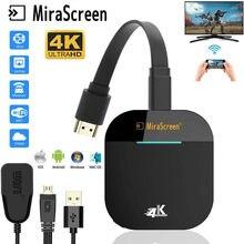 Mirascreen 5g wifi 1080p g5 display receptor para google chromecast anycast receptor de tv hdmi miracast tv vara para ios android