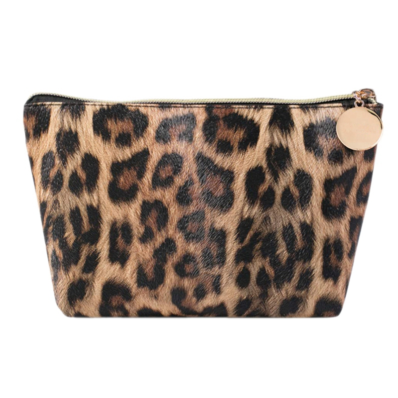 FGGS-Cosmetic Travel Organizer Women's Makeup Tools Brush Organizer Leopard