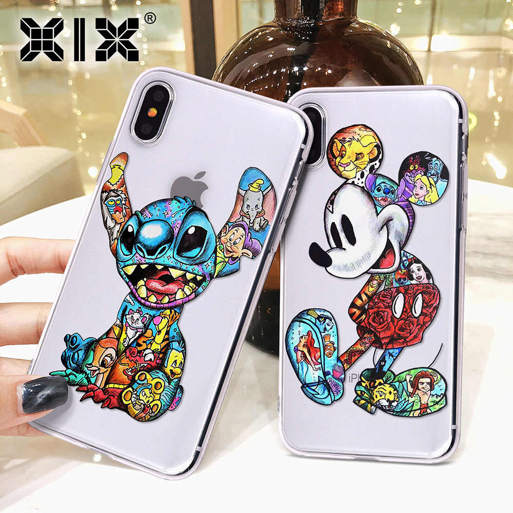 XIX für iPhone Funda 11 Pro Fall 5 5S 6 6S 7 8 Plus X XS Max Tattoo cartoon für Abdeckung iPhone 7 Fall Weiche TPU für iPhone XR Fall