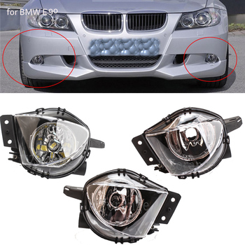 Car Fog Lights For BMW 3 Series E90 E91 328i 328xi 325i 325xi 330i 330xi 2005 - 2008 foglight fog light headlights led halogen image