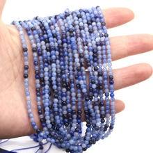 Бусина из натурального камня синий авантюрин бусина с отверстиями