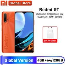 Глобальная версия смартфона Xiaomi Redmi 9T 4 Гб 64 ГБ 4 ГБ 128 ГБ Snapdragon 662 48MP задняя камера 6000 мАч без NFC