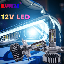 KULUZE Car Headlight Canbus H4 H7 LED 6000K 9012 H1 H3 H8 H9 H11 9005 9006 HB3 HB4 H10 H16 H27 880 881 LED Bulb Auto Fog Light