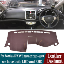 Leather Dashmat Dashboard Cover Pad Dash Mat Carpet Car-Styling accesso