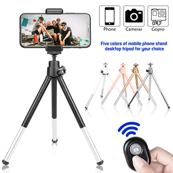 Tripod For Phone Bluetooth Remote Mini Selfie Stick Tripode Camera Portable Stand Holder Mobile