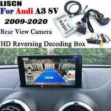 Invertendo a câmera para audi a3 8v s3 8p mmi 3g 2009 ~ 2020 adaptador de interface de câmera de backup frontal câmera traseira exibir melhorar o decodificador