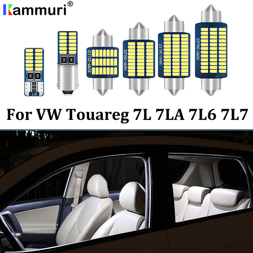 22pcs White <font><b>Canbus</b></font> <font><b>led</b></font> Car interior lights Package Kit For Volkswagen <font><b>VW</b></font> Touareg 7L 7LA 7L6 7L7 <font><b>LED</b></font> interior light Kit image