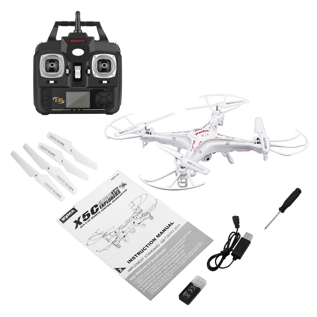 SYMA X5C Version de mise à niveau Drone RC 6 axes télécommande hélicoptère résistance au vent sans pilote quadrirotor avec 2MP HD caméra Drone