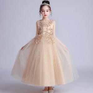 Image 4 - GirlsCampus 졸업 댄스 파티 롱 드레스 플라워 걸스 웨딩 신부 들러리 유적 파티 길이 들러리 드레스