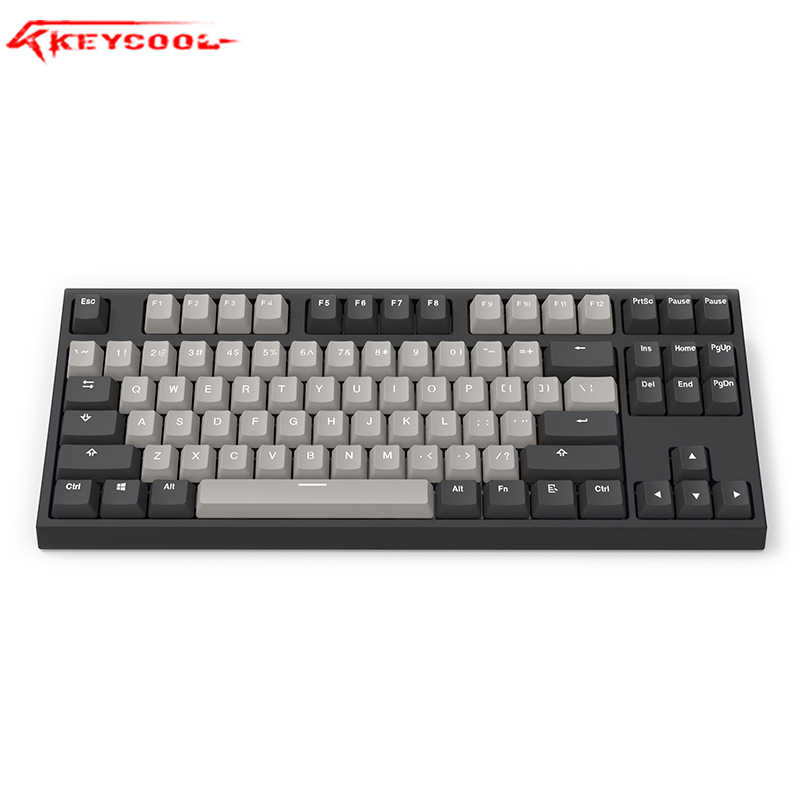 Keycool KC87 Bluetooth 5.0 Keyboard Mekanis RGB Lightsgateron Switch Gaming Keyboard PBT Keycaps Desktop Kantor Keyboard