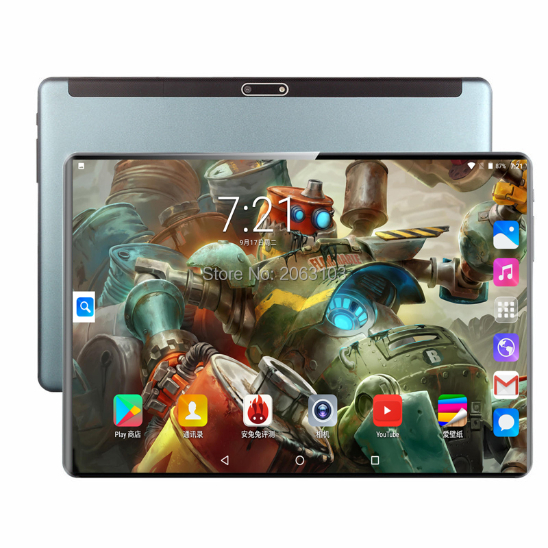 Super Tempered 2.5D Screen 10 Inch Tablet PC Android 9.0 Octa Core 6GB RAM 128GB ROM 8 Cores Tablet+64GB Memory Card Gift