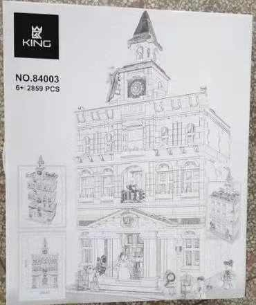 IN STOCK 15003 Town Hall Architecture Building Blocks Set Model Bricks Toy Compatible with Modular Building 10224