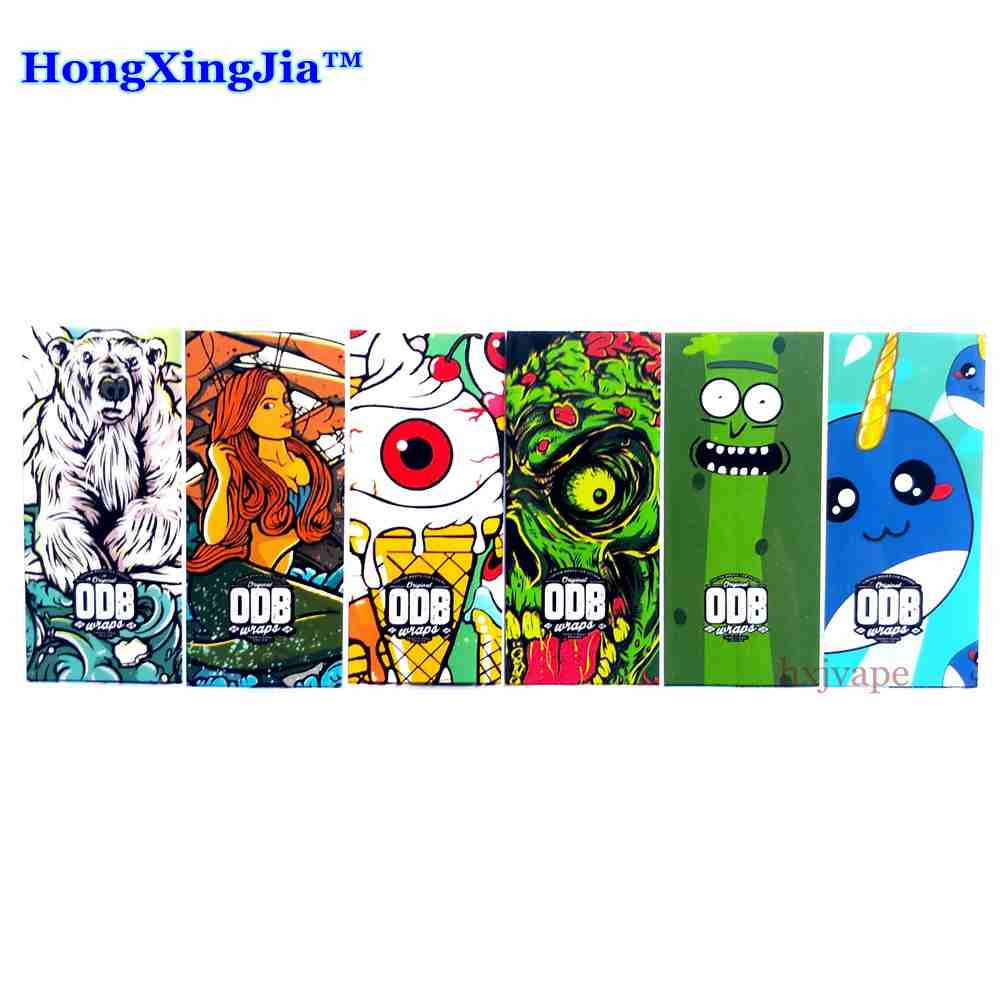 10pcs 18650 21700 Battery Wrap ODB Sticker Protective Skin Sleeve PVC Heat Shrinkable Tubing Vape Accessories Battery Cover Case