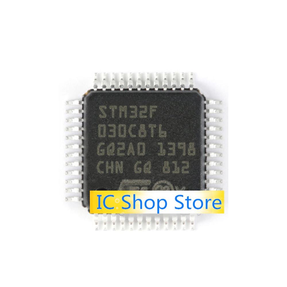 5 pçs/lote STM32F030C8T6 LQFP48 Novo Original IC Chip de Genuíno