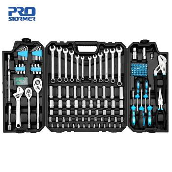 228pcs Tool Set Socket Wrench Tools Auto Repair Mixed Combination Toolbox Package Hand Kit Plastic by PROSTORMER 1