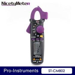 Nicety ST CM802 true rms 6000 zlicza cyfrowy AC zacisk dc miernik pomiaru rezystancji pojemności Temerature Frequence cęgowy miernik|Mierniki cęgowe|Narzędzia -