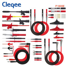 Cleqee P1600 series Multimeter Test Lead Kit 4mm Banana Plug-Test Cable Test Probe IC Hook Clips Automotive Repair Tool Set