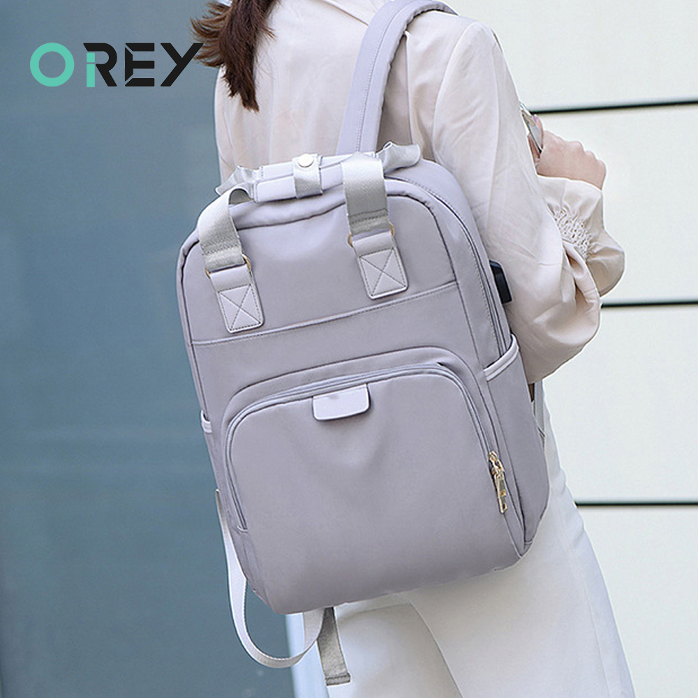 Stylish Waterproof <font><b>Laptop</b></font> <font><b>Backpack</b></font> <font><b>15</b></font>.6 <font><b>Women</b></font> Fashion <font><b>Backpack</b></font> for girls Black <font><b>Backpack</b></font> Female large Bag 13 13.3 14 <font><b>15</b></font> inch Pink image