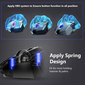 Image 5 - DAREU EM945 PMW3389 Sensor Gaming Maus 16000DPI 440IPS KBS taste Verdrahtete Mäuse mit OLED Bildschirm & DIY Seite taste für FPS Gamer