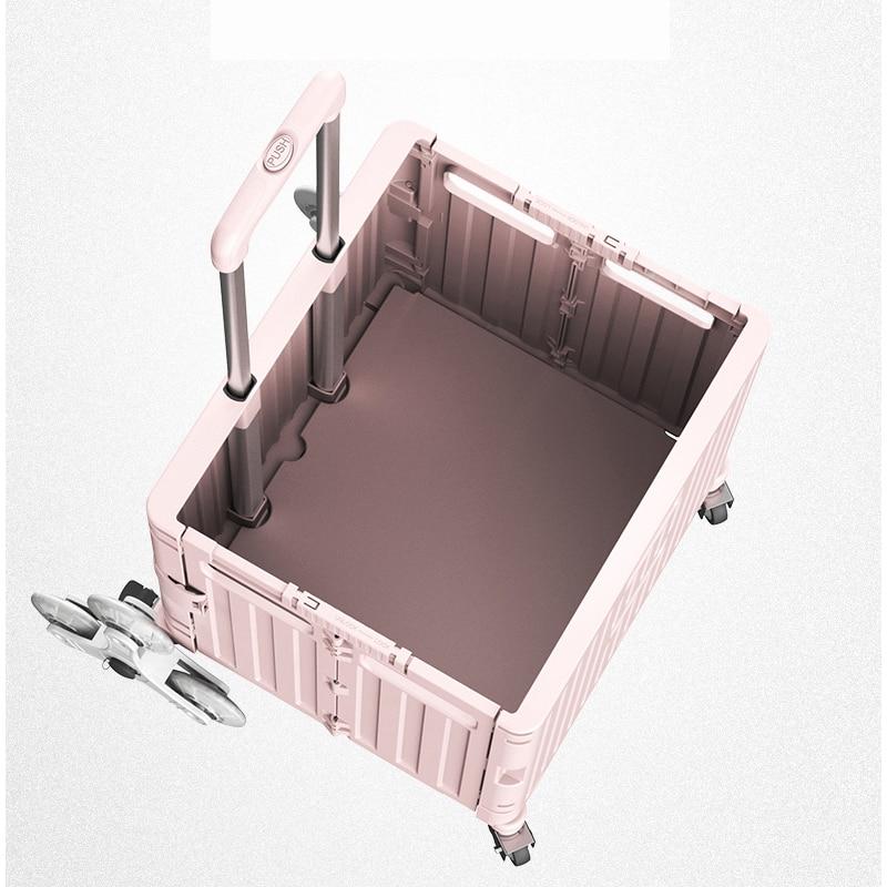 Подъемная лестница Мобильная складная тележка 4 колеса для скалолазания