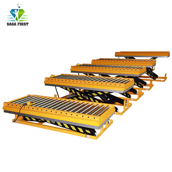 Hydraulic Roller Lift Platform Stationary Scissor Roller Table Lift