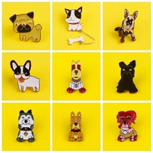Cute Cartoon Animal Icon Brooch New Design Fashion metal Badge Zinc Alloy Dog Pin For Kids Gifts Decoration On Bag Hat Scarf