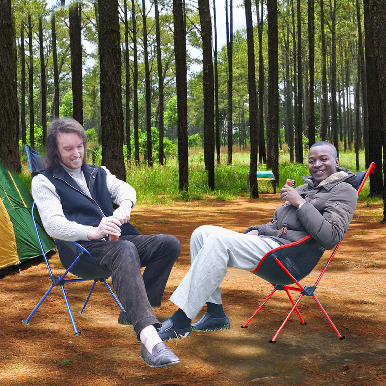 Chaise de lune Portable pliante avec oreiller pêche Camping siège de randonnée étendu longue chaise de plage lumière contraste couleur meubles