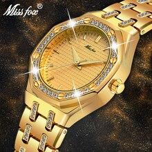 MISSFOX 여성 시계 여성 패션 시계 2019 럭셔리 브랜드 숙녀 시계 방수 골드 쿼츠 Ap 시계 Xfcs 여성 시계 시간