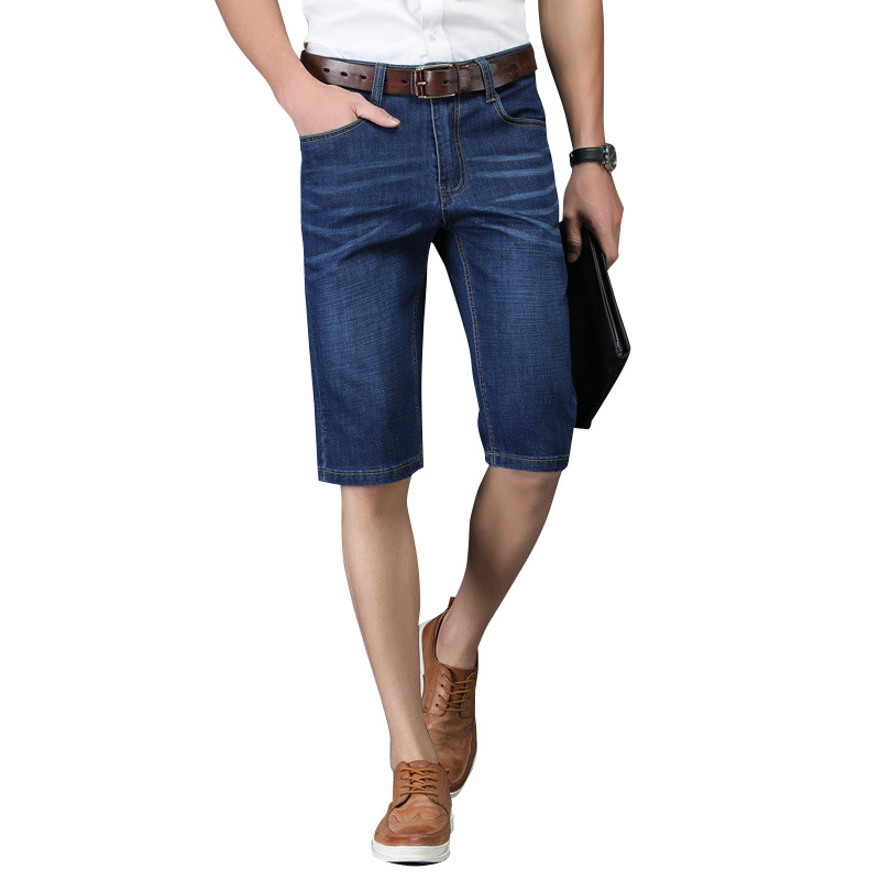 2019 MEN'S Jeans Spring And Summer New Style Korean-style Slim Fit Micro Elastic Men's Trousers Pencil Pants Shorts Youth Denim