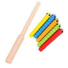 1 палочка + 5 червей для ловли червя, игра клубника, аксессуары для деревянных игрушек