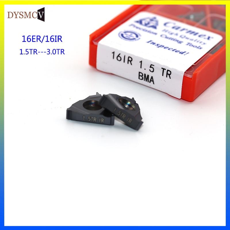 Carmex16ER 16IR 1.5TR 2TR 3TR BMA  CNC Threaded Carbide Inserts Lathe Threading Blade Tool