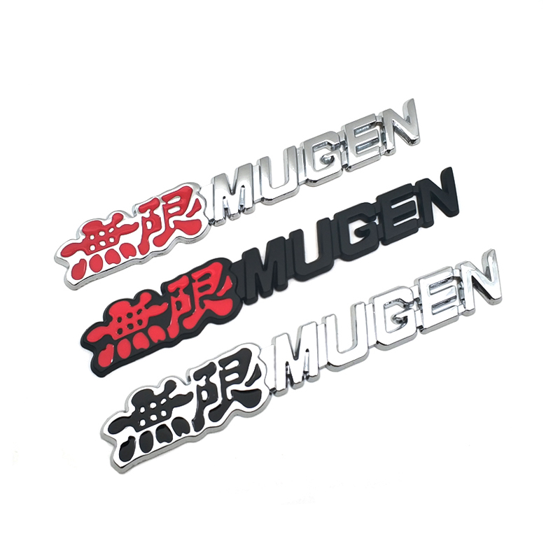 Metal Auto Styling MUGEN Emblem Rear Tailgate Trunk Sport Car Badge Sticker