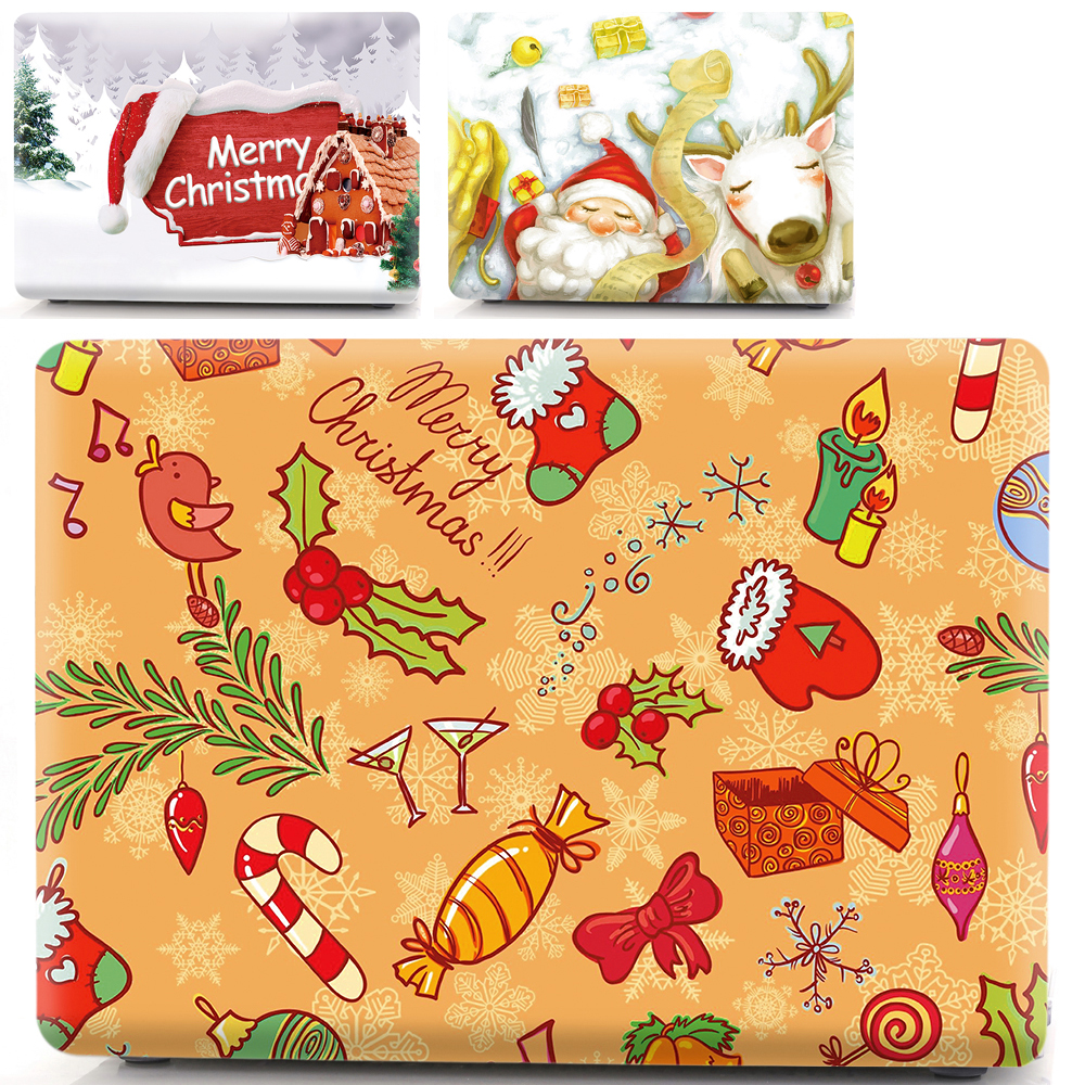 Christimas Laptop PVC Case for MacBook Air 13 11 Pro 13 15 Retina A1502 Touch Bar mac 12 13 15 2018 A1708 A1990 A1989 Hard shell