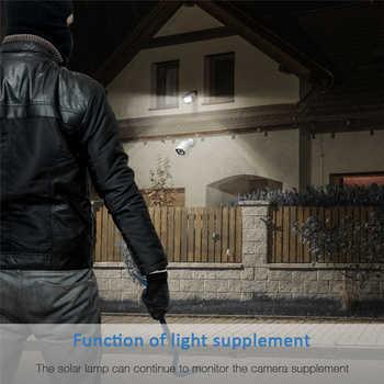 LED Solar Flood Lights Outdoor Wall Lamp Motion Sensor Outdoor Waterproof IP65 High-brightness Garden Pathway Garage Door Lamp