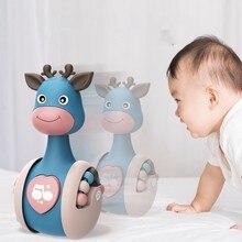 Sonajero de ciervo deslizante para bebé, juguete educativo de aprendizaje, mordedor para recién nacido, campana de mano móvil, cochecito de música, juguete roly-poly