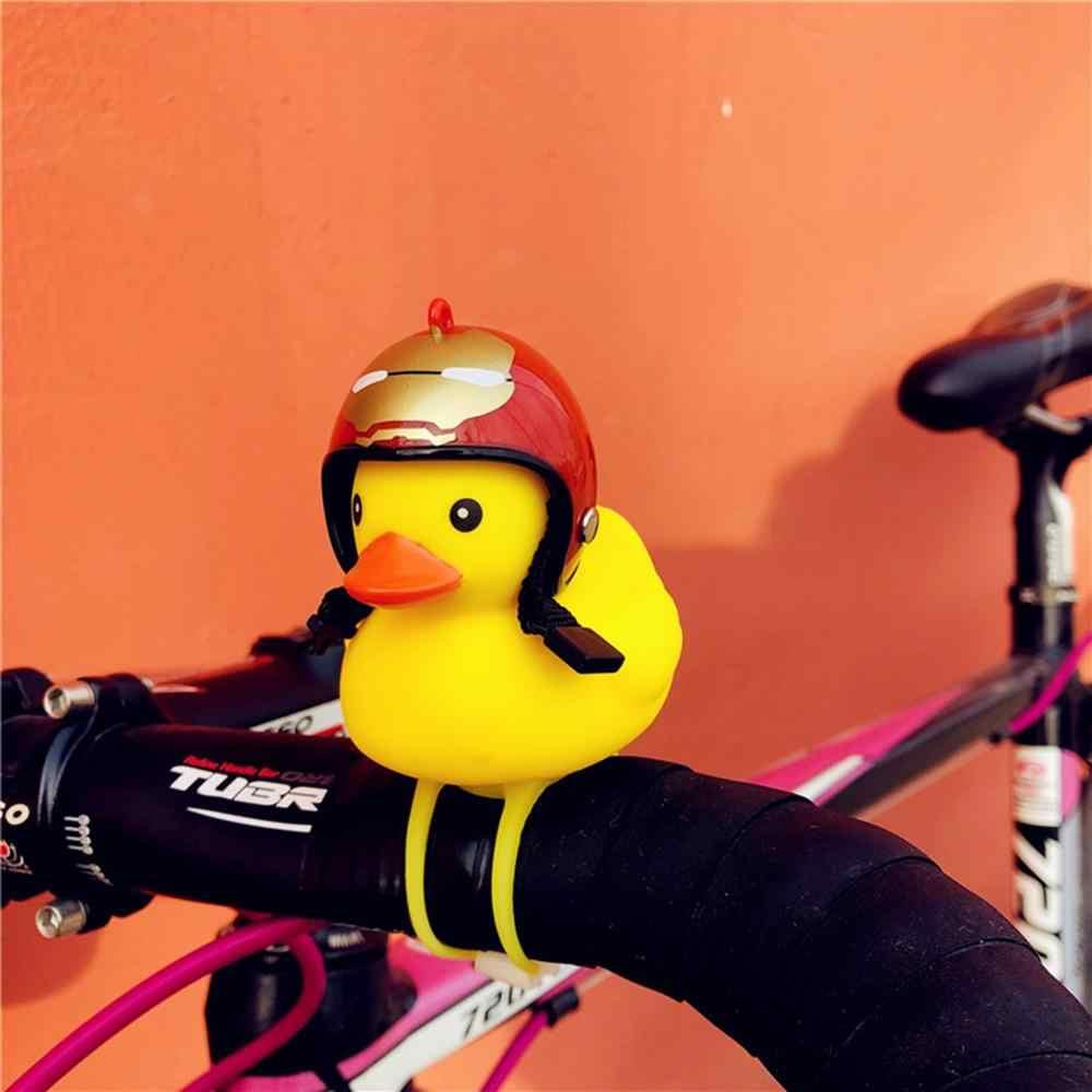 Promosi! Semua Baru Fashion Sepeda Mobil Bebek dengan Helm Broken Wind Kuning Bebek Peta Sepeda Motor Helm Riding Bersepeda Aksesoris