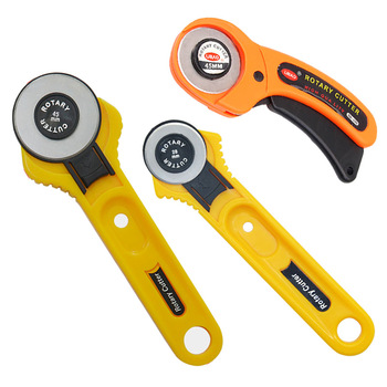 Juego de cuchillas de cuero de 45mm y 28mm, cortador rotatorio para tela Circular, cortador de edredón, herramienta de corte de Patchwork, cortador de cuero