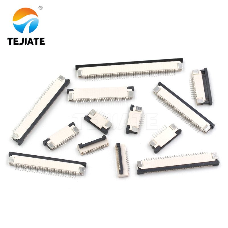 10PCS FFC/FPC Connector Flat Cable Socket 1.0MM Adapter 4/5/6/8/9/10/12/14/15P Down Drawer Type Plug Kit