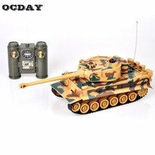 2019 1:28 2.4G RC Tank Germany Tiger 103 Fighting Battle Tank Remote Control Toys with Musical Flashing for Child Kids Boy hi цена