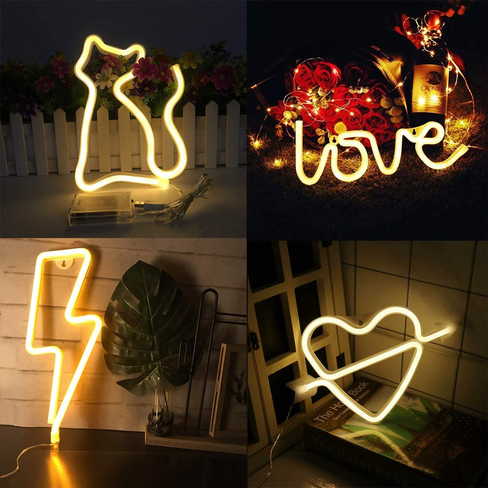 27 Styles LED Neon Sign Shaped Decor Light Wall Decor for Christmas Birthday Party Kid Room Living Room Wedding Party Decoration image