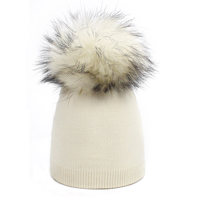Детская шапка, вязаная цветная шапка с помпоном, Шапка-бини с меховым помпоном, зимняя шапка для мальчиков и девочек, теплая мягкая шапка Skullies Bone для детей - Цвет: G