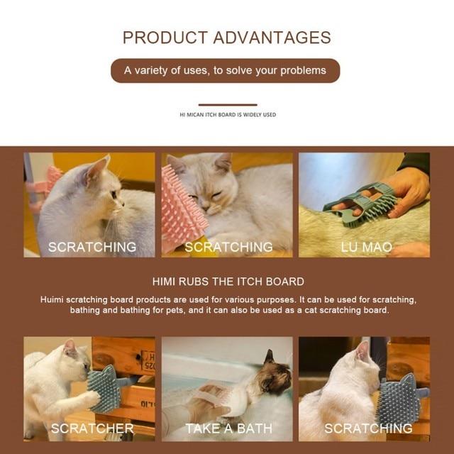 силиконовая щетка для кошек угловая массажная саморасческа расческа фотография