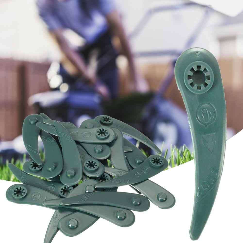 100PCS Grass Strimmer Trimmer Plastic Blades Set For Bosch ART23-18LI ART26-18LI