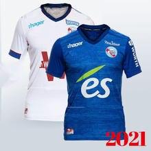 20/21 rc estrasburgo maillot futebol alsácia maillot de pé 2021 2020 zohi 26 thomasson lienard lala sissoko camisa para homem