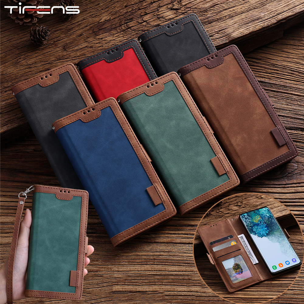 Leather Case For Samsung Galaxy A51 A71 A81 A91 A01 A11 A21 A31 A41 A50 A70 A20E A30 A10 S A40 Note10 S10 Lite Flip Wallet Cover(China)