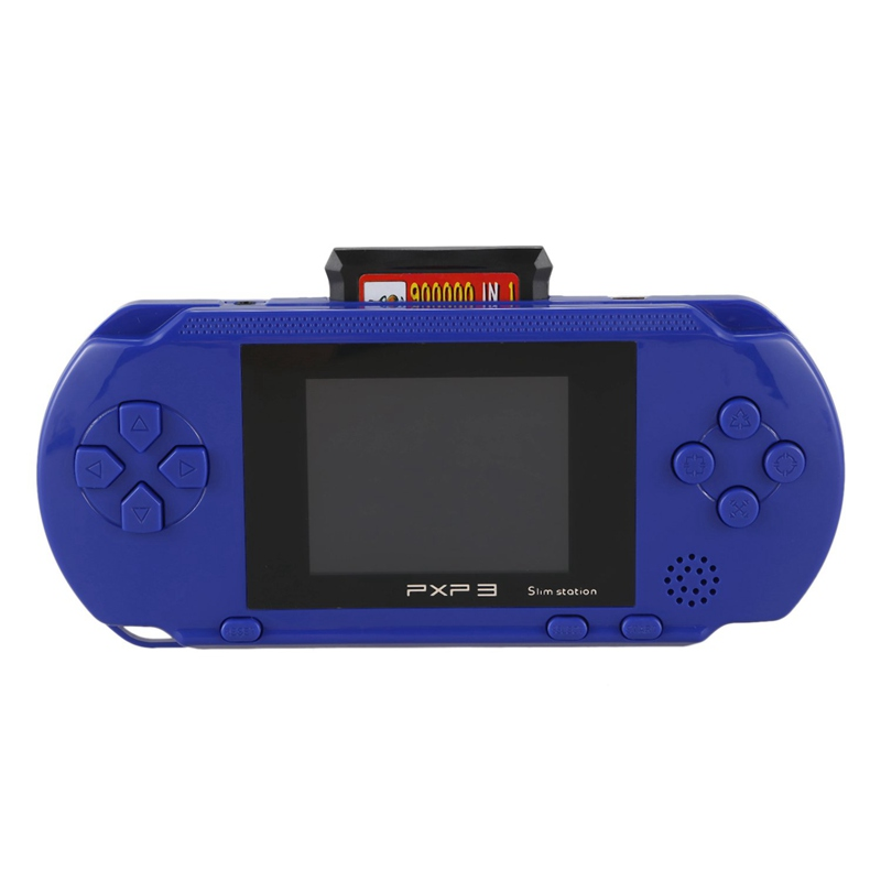 3 Inch 16 Bit Pxp3 Handheld Game Player Retro Video Game Console 150 Classic Games Child Gaming Players Console(Blue)